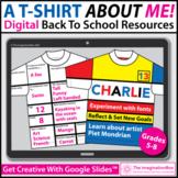 All About Me T Shirt Digital Art Activity   Google Classroom™