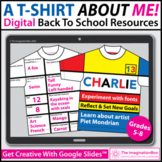 All About Me T Shirt Digital Art Activity | Google Classroom™