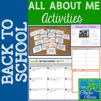 Beginning of the Year - THREE Getting to Know You Activities