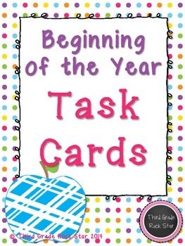 Beginning of the Year Task Cards