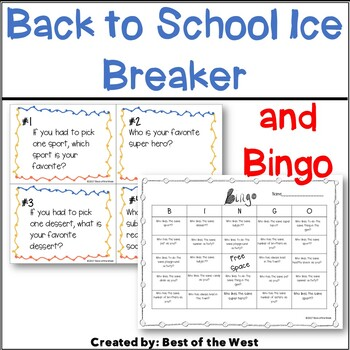 NO PREP Beginning of the Year Task Cards and Bingo