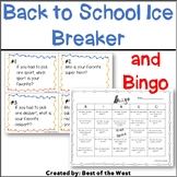 First Day of School Activity Ice Breaker