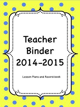 Beginning of the Year Teacher Binder Bundle