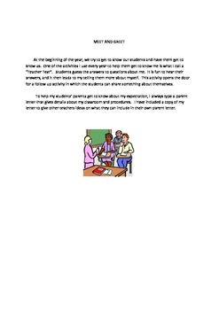 Beginning of the Year Teacher Information