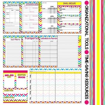 Editable Teacher Planner (Chevron)