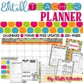 Editable Teacher Binder & Organization Packet (Polka Dots)
