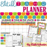 Editable Teacher Planner (Polka Dots)