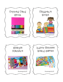 Beginning of the Year Teacher Supply Wish List