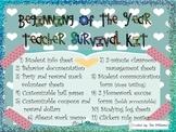 Beginning of the Year Teacher Survival Kit