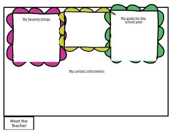 Beginning of the Year Teacher/Class Information Flipbook {EDITABLE}
