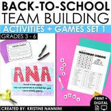 Back to School Beginning of the Year Activities Team Building Activities