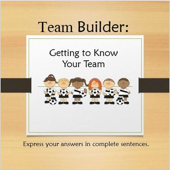 Beginning of the Year Team/Class Builder PowerPoint