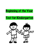 Beginning of the Year Test for Kindergarten