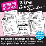 Back to School Tips for Circle Time and more