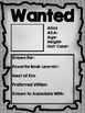 Beginning of the Year Wanted Poster