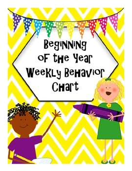 Beginning of the Year Weekly Behavior Chart with Conduct Grades FREEBIE