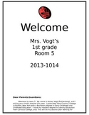 Beginning of the Year Welcome Packet