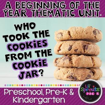 First Week of School - Who Took the Cookies from the Cookie Jar? Pre-K/K