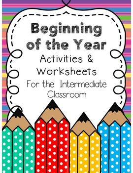 Beginning of the Year Worksheets & Activities {3rd-5th gra