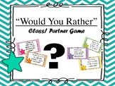 "AVID - Collaboration  ""Would you Rather"" Game"