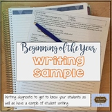 Beginning of the Year Writing Diagnostic