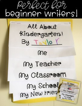 All About School Beginning of the Year Writing Flip Book Pre-K Kindergarten 1st
