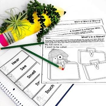 Back to School Ideas~Writing, Glyph, Speaking & Listening