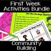 First Day of School Activities   Back to School Activities Bundle
