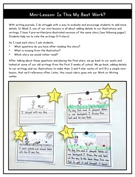 Beginning of the Year Writing Mini-Lessons for 1st Grade