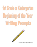 Beginning of the Year Writing Prompts