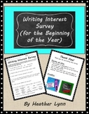 Beginning of the Year Writing Survey