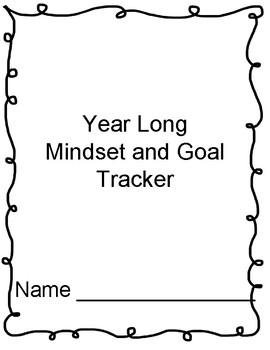 Beginning of the Year Year Long Mindset and Goal Tracker
