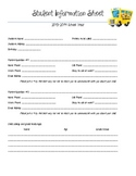 Beginning of the Year form-- Student Information