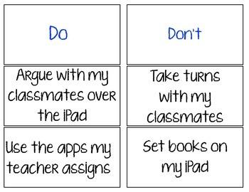 Beginning of the Year iPad Activities