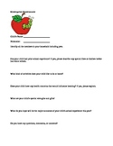 Beginning of the school year questionnaire