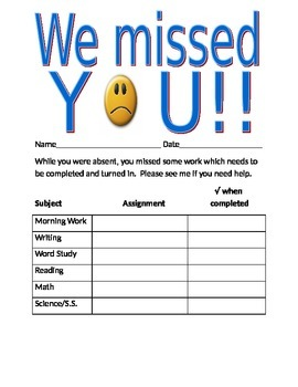 Absent work..We missed you!