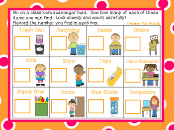 Beginning of the year: Classroom Scavenger Hunt