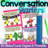 Beginning of the year - Conversation Starters - Printable