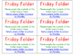Beginning of the year Friday Folder and Agenda Pouch Labels_FREEBIE