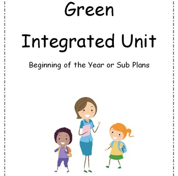 "Beginning of the year Get to know you, Sub plan ESL ELL CCSS SEL NGSS ""Green"""