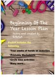 Beginning of the year Lesson Plan!