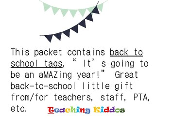 Beginning of the year Tags-  It's going to be an aMAZing year!""