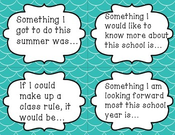 Collaborative Conversations Task Cards: First Week of School