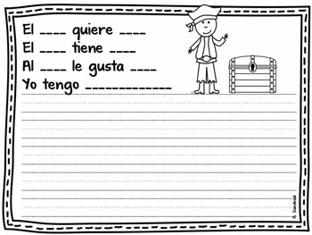 Beginning of the year- Writing Journal Spanish