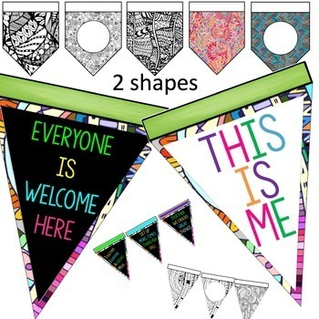 First Day of School Activities Calm Down Banner