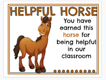 Beginning of the year behavior incentive and certificates