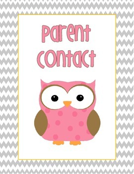 Beginning of the year binder covers- owl, polka dot, and chevron print