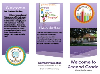 Beginning of the year brochure