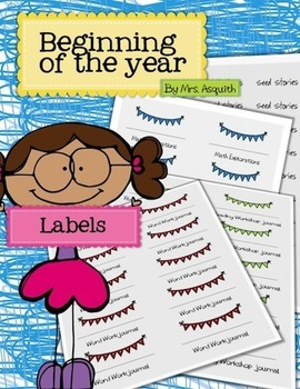 Beginning of the year journal labels
