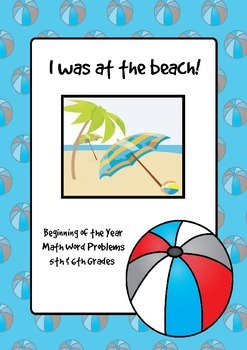 Beginning of the year math activities: I was at the beach!